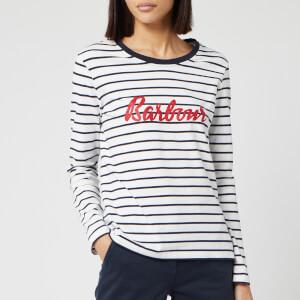Barbour Women's Kielder Long Sleeve Top - White/Navy