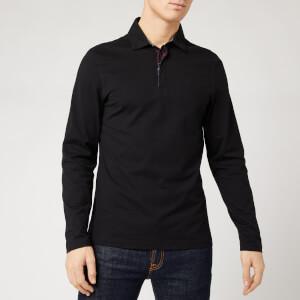 Barbour Men's Dunnet Long Sleeve Polo Shirt - Black