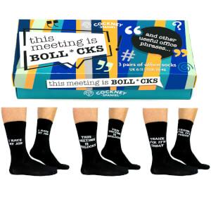 Cockney Spaniel Sock Gift Box - This Meeting is B*llocks