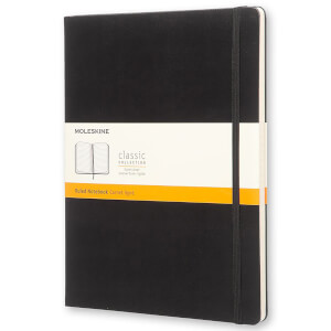 Moleskine Classic Ruled Hardcover XL Notebook - Black