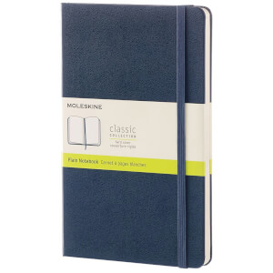 Moleskine Classic Plain Hardcover Large Notebook - Sapphire Blue