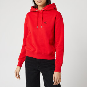 Calvin Klein Jeans Women's Embroidery Hoody - Racing Red