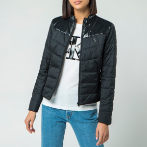 Calvin Klein Jeans Women's Padded Moto Jacket - CK Black