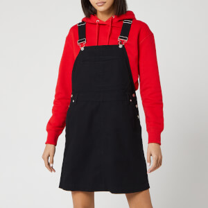 Calvin Klein Jeans Women's Cotton Twill Dungaree Dress - CK Black