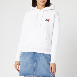 Tommy Jeans Women's Badge Hoody - Classic White
