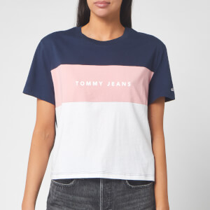 Tommy Jeans Women's Stripe Logo T-Shirt - Classic White