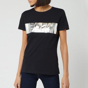 BOSS Short Sleeve Women's Teshine Short Sleeve T-Shirt - Black