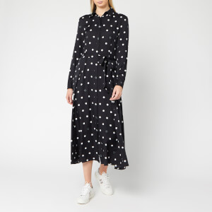 BOSS Women's Elkas Polka Dot Shirt Dress - Black