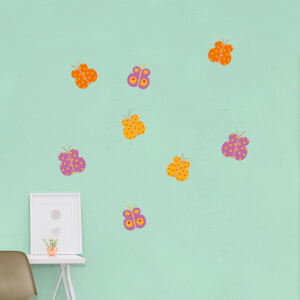 Summer Tropical Butterflies Wall Art Sticker Pack