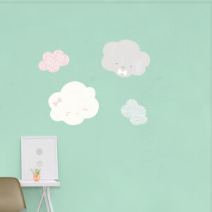 Cute Baby Cloud Wall Art Sticker Pack