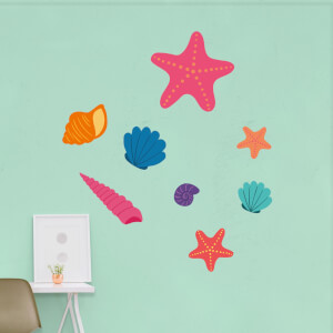 Sea Shell And Creatures Wall Art Sticker Pack