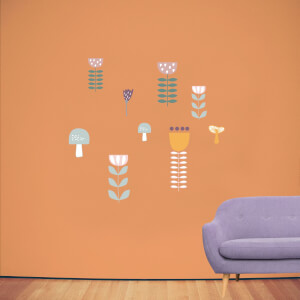 Simple Stylistic Flowers Wall Art Sticker Pack