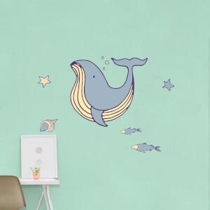 Blue Whale Wall Art Sticker Pack