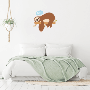 Sleeping Sloth Wall Art Sticker