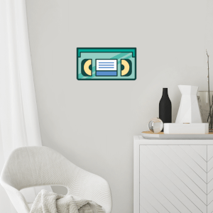 VHS Wall Art Sticker