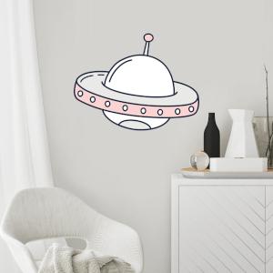 UFO Wall Art Sticker