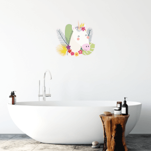 Unicorn With Flowers Wall Art Sticker
