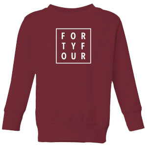 How Ridiculous Forty Four Square Kids' Sweatshirt - Burgundy