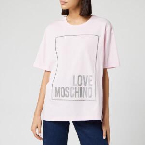 Love Moschino Women's Logo Box T-Shirt - Pink