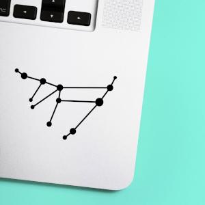 Capricorn Constellation Laptop Sticker