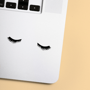 Thick Lashes Laptop Sticker