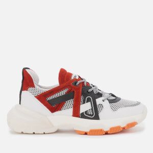 Bronx Women's Seventy Street Running Style Trainers - Off White/Black/Orange