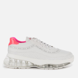 Bronx Women's Bubbly Running Style Trainers - White/Neon Pink