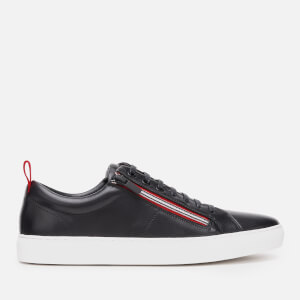 HUGO Men's Futurism Tenn Leather Low Top Trainers - Black