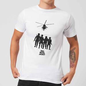 Full Metal Jacket Soliders And Helicopter Men's T-Shirt - White