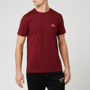 BOSS Men's Curved Logo T-Shirt - Burgundy