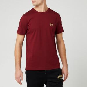 BOSS Hugo Boss Men's Curved Logo T-Shirt - Burgundy