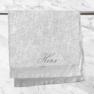 Hers Embroidered Hand Towel