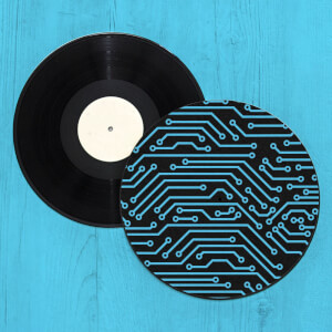 Microchip Circuit Record Player Slip Mat