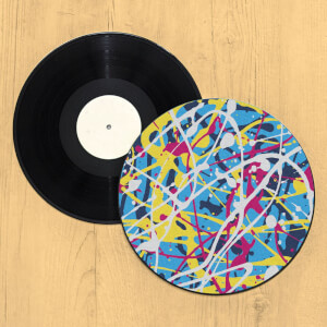 Paint Splatter Record Player Slip Mat