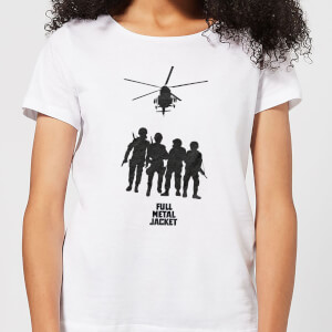 Full Metal Jacket Soliders And Helicopter Women's T-Shirt - White