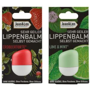 Jean & Len Lippenbalm Erdbeertorte & Lime & Mint