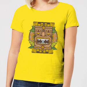 Crystal Maze Aztec Idol Women's T-Shirt - Yellow