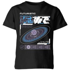 Crystal Maze Futuristic Zone Kids' T-Shirt - Black