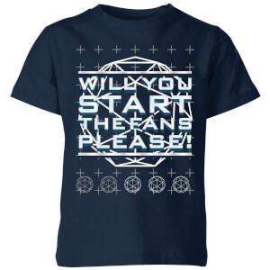 Crystal Maze Will You Start The Fans Please! Kids' T-Shirt - Navy