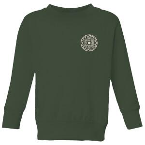 Crystal Maze Fast And Safe Pocket Kids' Sweatshirt - Forest Green