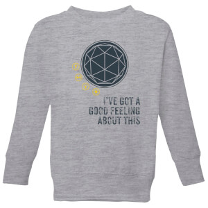 Crystal Maze I've Got A Good Feeling About This- Industrial Kids' Sweatshirt - Grey