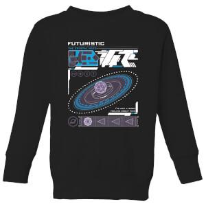Crystal Maze Futuristic Zone Kids' Sweatshirt - Black