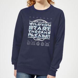 Crystal Maze Will You Start The Fans Please! Women's Sweatshirt - Navy