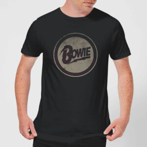 David Bowie Circle Logo Men's T-Shirt - Black