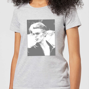 David Bowie Wild Profile Framed Women's T-Shirt - Grey