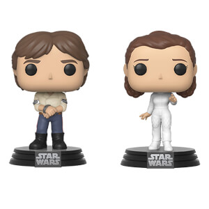 Star Wars - Han Solo e Leia 2-pack Figure Funko Pop! Vinyl