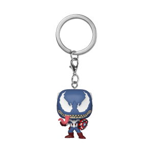 Marvel Venom Captain America Pop! Keychain