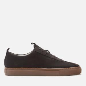 Grenson Men's Sneaker 1 Nubuck Cupsole Trainers - Black/Gum Sole