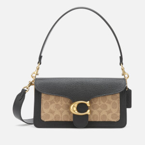 Coach Women's Coated Canvas Signature Tabby Shoulder Bag 26 - Tan Black