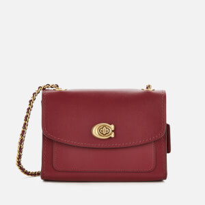Coach Women's Refined Calf Leather Parker 18 Shoulder Bag - Deep Red